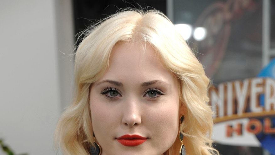 "March 27, 2011, actress and model Hayley Hasselhoff at the premiere of ""Hop"" in Universal City, California."