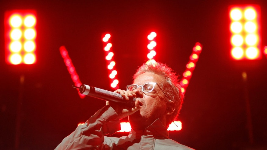 "Mark Mothersbaugh of ""Devo"" performs at the Coachella Music Festival in Indio, California April 17, 2010.   REUTERS/Mario Anzuoni  (UNITED STATES - Tags: ENTERTAINMENT PROFILE) - RTR2CYMR"