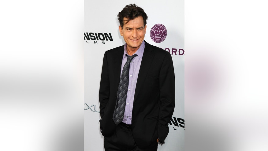 April 11, 2013. Charlie Sheen in Hollywood
