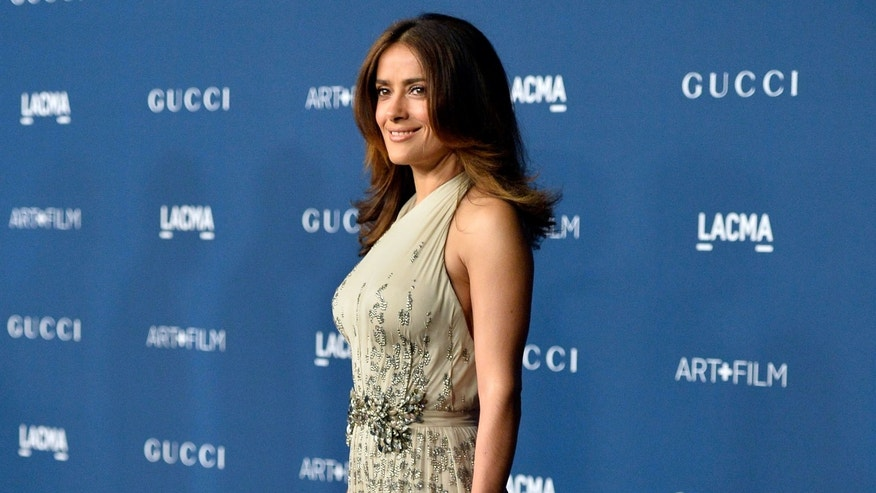 LOS ANGELES, CA - NOVEMBER 02:  Actress Salma Hayek arrives at the LACMA 2013 Art + Film Gala on November 2, 2013 in Los Angeles, California.  (Photo by Frazer Harrison/Getty Images)
