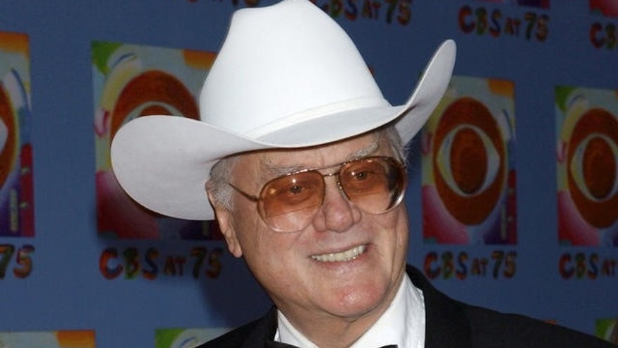 Larry Hagman is shown in a 2003 photo.
