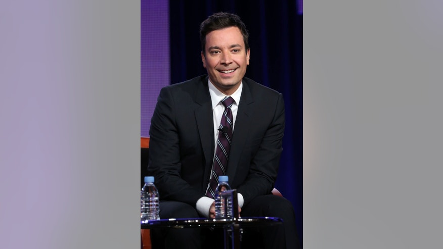 "Photo released by NBC shows Jimmy Fallon who will be the new host of ""Tonight Show Starring Jimmy Fallon."" Fallon's final ""Late Night"" show was on Feb. 7, 2014."