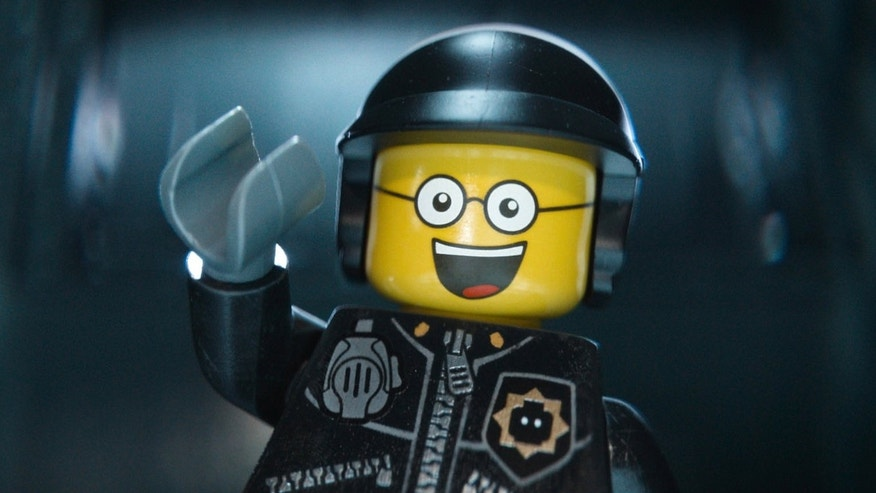 """Bad Cop/Good Cop, voiced by Liam Neeson, in a scene from """"The Lego Movie."""""""