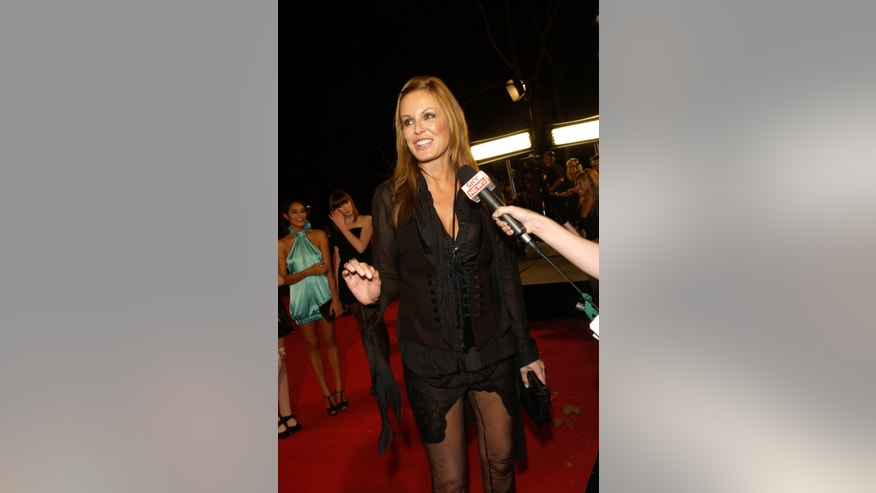 April 26, 200. Charlotte Dawson arrives on the red carpet for the MTV Australia awards in Sydney. Australian TV star and former model Dawson was found dead at age 47 in her Sydney apartment on Saturday morning, Feb. 22, 2014, following a history of depression.