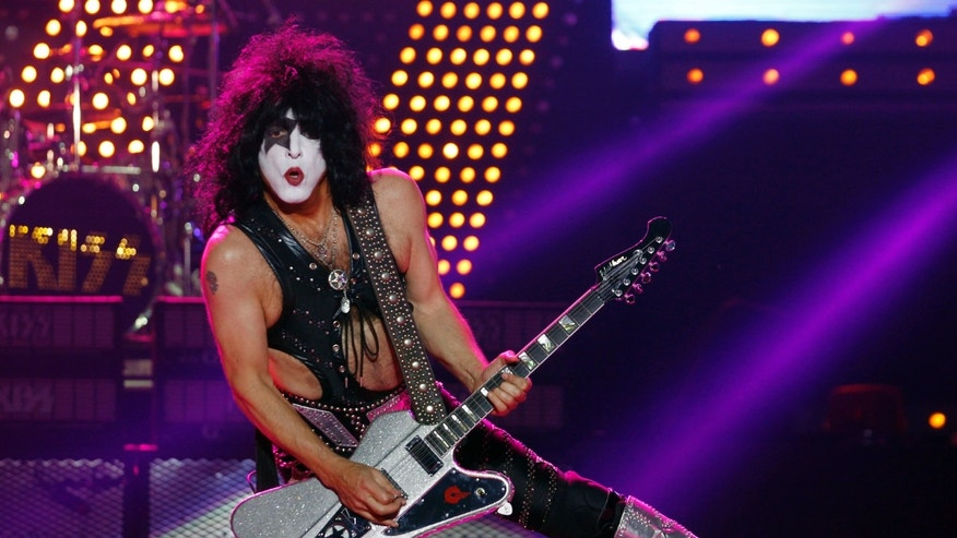 November 7, 2012. Paul Stanley of the rock band Kiss performs during their show in Buenos Aires.