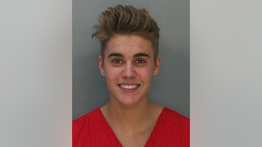 January 23, 2014. Justin Bieber is shown in this booking photo provided by Miami Beach Police Department in Miami Beach.