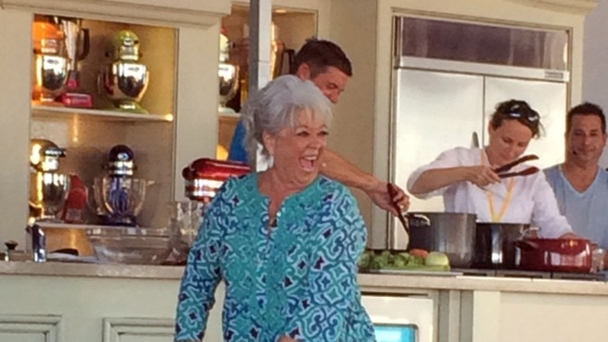 Feb. 23, 2014: Paula Deen appears at a cooking demo at the South Beach Wine and Food Festival in Miami, Fla.