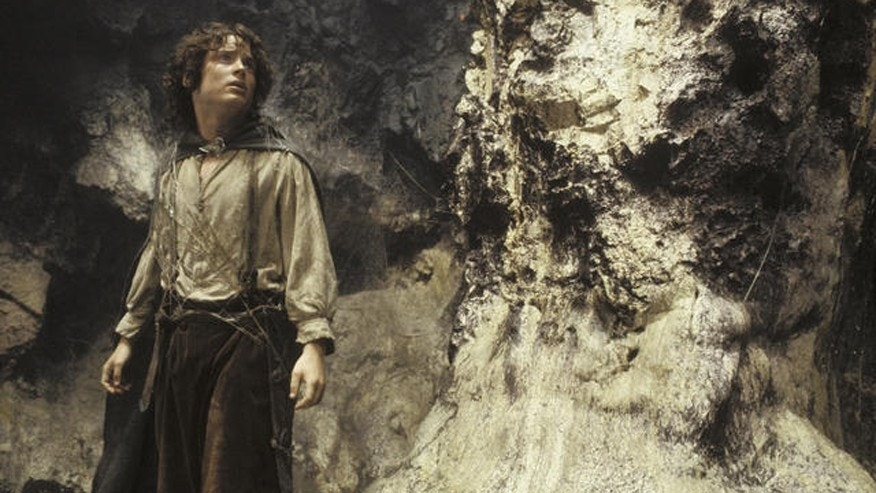 "Elijah Wood as Frodo in scene from movie ""The Lord of the Rings: The Return of the King."""