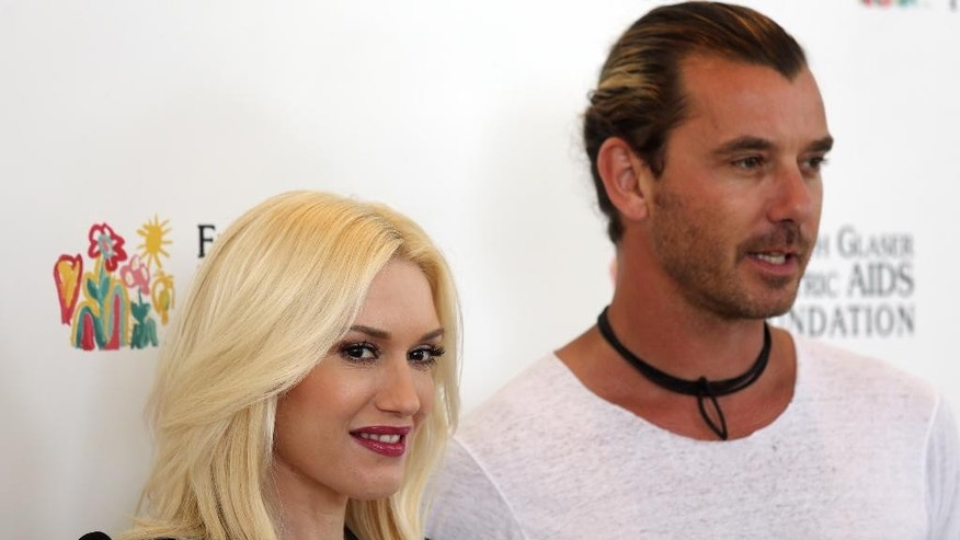 "June 2, 2013. Gwen Stefani and Gavin Rossdale arrive at Elizabeth Glaser Pediatric AIDS Foundation's 24th Annual ""A Time for Heroes"" event in Los Angeles."