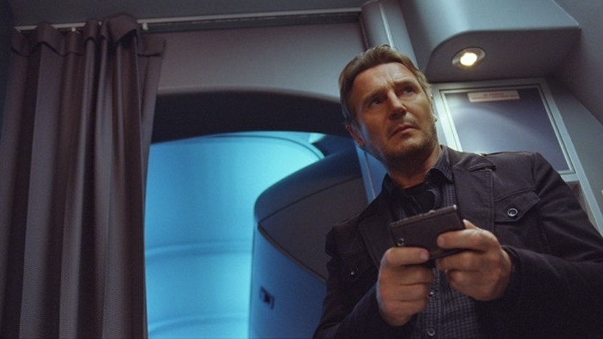 "This image released by Universal Pictures shows Liam Neeson in a scene from ""Non-Stop."""