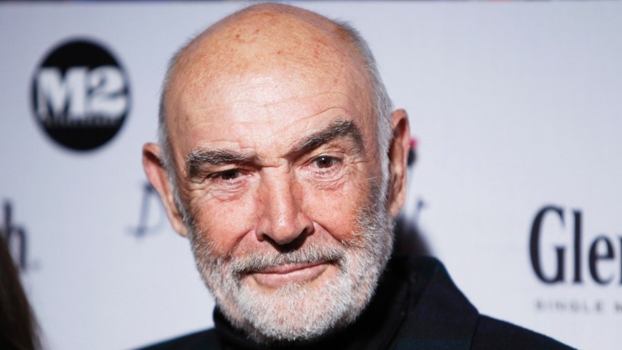 April 5, 2010. Actor Sean Connery arrives at the Dressed To Kilt charity fashion show in New York.