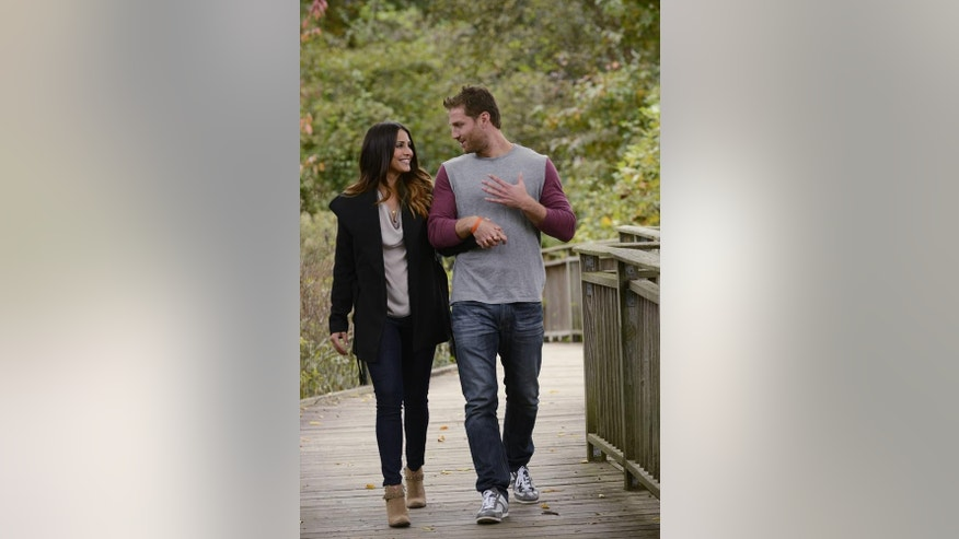 "Andi and Juan Pablo are seen during their date on ""The Bachelor."""