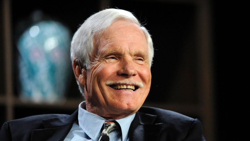 "Turner Enterprises Inc. Chairman Ted Turner participates in the ""Ted Turner and T. Boone Pickens on America's Energy Future"" panel at the 2010 Milken Institute Global Conference in Beverly Hills, California April 26, 2010. REUTERS/Phil McCarten (UNITED STATES - Tags: BUSINESS MEDIA ENERGY) - RTXS6RO"