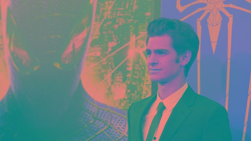 "July 3, 2012. Andrew Garfield poses at the premiere of ""The Amazing Spider-Man"" at the Regency Village theatre in Los Angeles, California."