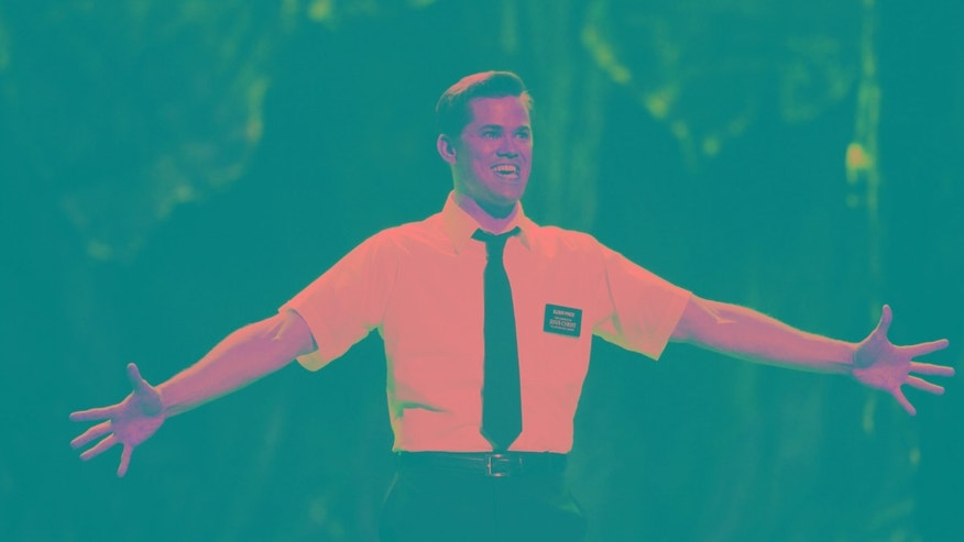 "June 12, 2011. Andrew Rannells performs a scene from ""The Book of Mormon"" during the American Theatre Wing's 65th annual Tony Awards ceremony in New York."
