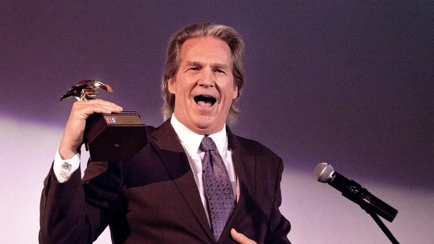 March 8, 2014. Actor Jeff Bridges accepts the King Vidor Award at the SLO Film Festival 2014, held at the Fremont Theater in San Luis Obispo, CA.