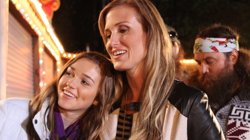 "Sadie and her mom Korie Robertson pictured in the episode ""I'm Dreaming of a Redneck Christmas"" on A&E's ""Duck Dynasty."""