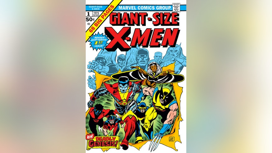 "This 1975 comic book cover image released by Marvel Entertainment shows ""Giant-Size X-Men, v1 #1."""