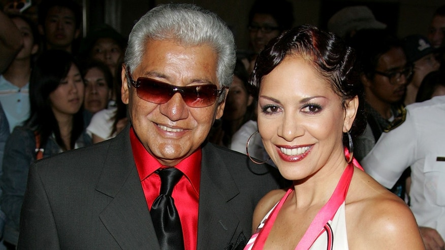 Sheila E. and her father, Pete Escovedo, at the 2005 World Music Awards at the Kodak Theatre on August 31, 2005 in Hollywood, California.