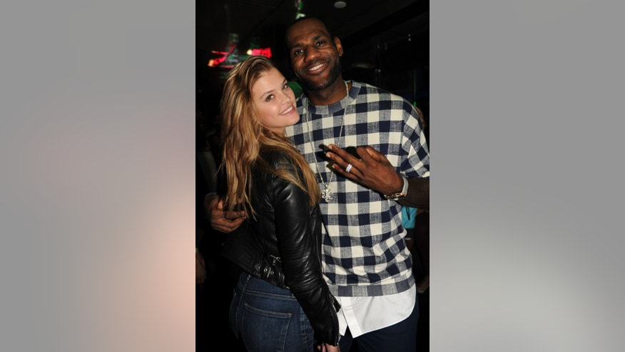 Nina Abigail and LeBron James are shown at the Sprite 6 Mix by LeBron James Launch at SL Miami.