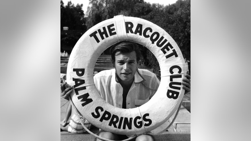 Robert Wagner at the Palm Springs Racquet Club, 1956