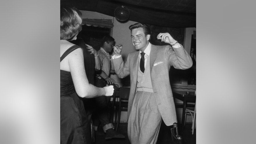 Robert Wagner dances  at a party, ca. 1955