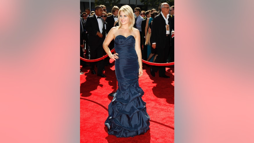 September 15, 2012. Actress Candace Cameron Bure arrives at the 2012 Primetime Creative Arts Emmy Awards in Los Angeles.