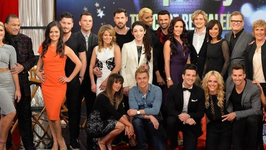 "GOOD MORNING AMERICA - ""Dancing with the Stars"" - This season's dynamic lineup of stars -- including two Olympic Gold Medalists, a game show host, a swimming legend and a teen pop star - will perform for the first time on live national television with their professional partners during the two-hour season premiere of ""Dancing with the Stars,"" MONDAY, MARCH 17 (8:00-10:01 p.m., ET) on the ABC Television Network. (ABC/Todd Wawrychuk)STANDING: EMMA SLATER, BILLY DEE WILLIAMS, DANICA MCKELLAR, VALENTIN CHMERKOVSKIY, SEAN AVERY, CANDACE CAMERON BURE, MAKSIM CHMERKOVSKIY, MERYL DAVIS, NENE LEAKES, TONY DOVOLANI, SHARNA BURGESS, CHARLIE WHITE, CHERYL BURKE, DREW CAREY, DIANA NYAD, HENRY BYALIKOV; SITTING: KARINA SMIRNOFF, DEREK HOUGH, MARK BALLAS, PETA MURGATROYD, JAMES MASLOW, WITNEY CARSON, CODY SIMPSON"