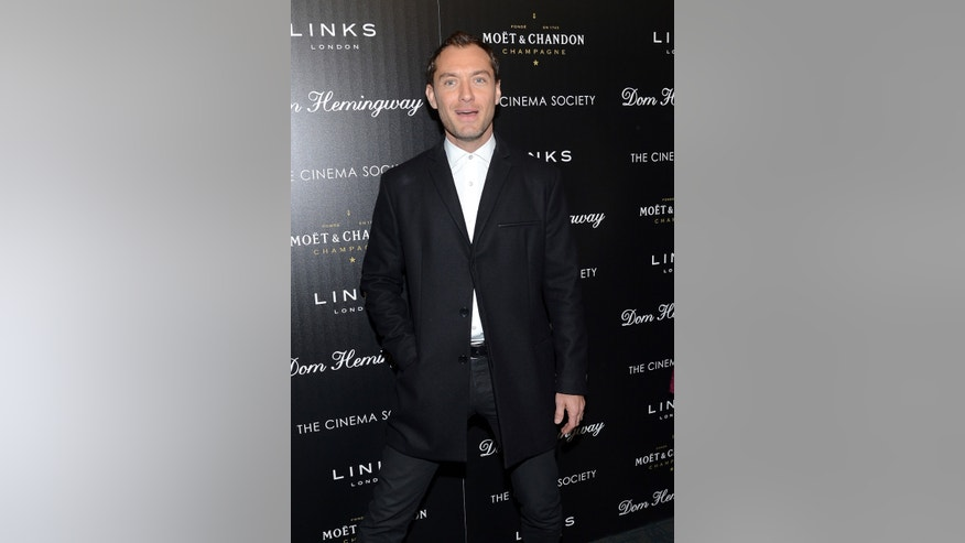 "March 27, 2014. Actor Jude Law attends a special screening of ""Dom Hemingway"" in New York."