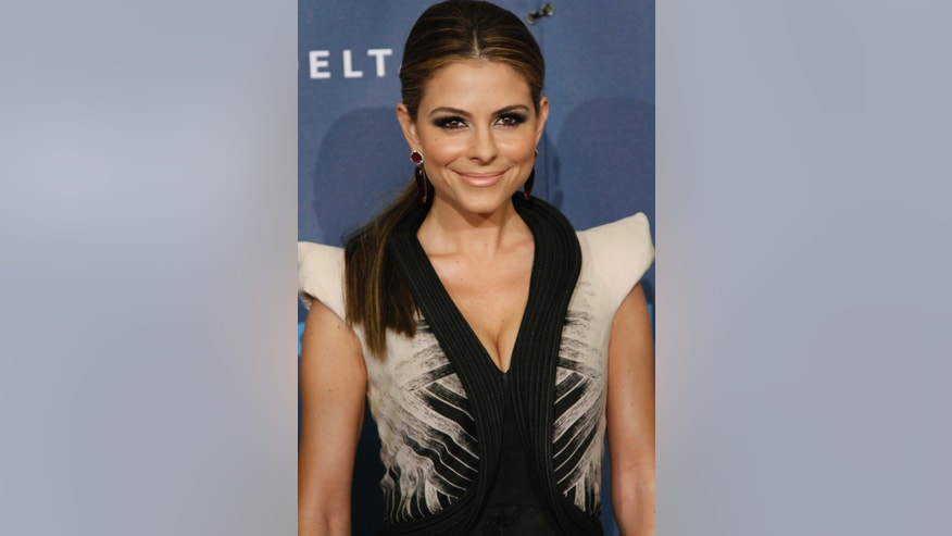 April 20, 2013. Actress Maria Menounos arrives at the 24th Annual GLAAD Media Awards at JW Marriott Los Angeles at L.A. LIVE in Los Angeles, California.