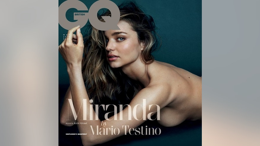 Miranda Kerr appears in the May issue of British GQ.