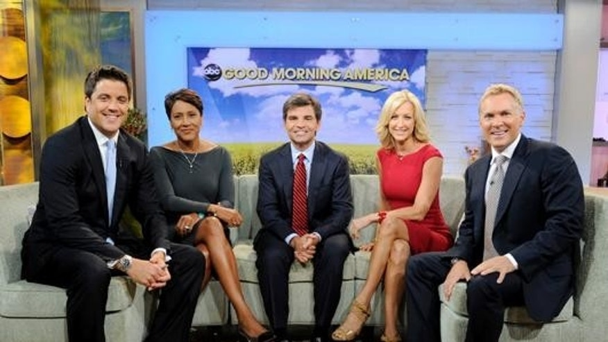 Josh Elliott (left) and the rest of the 'Good Morning America' team.