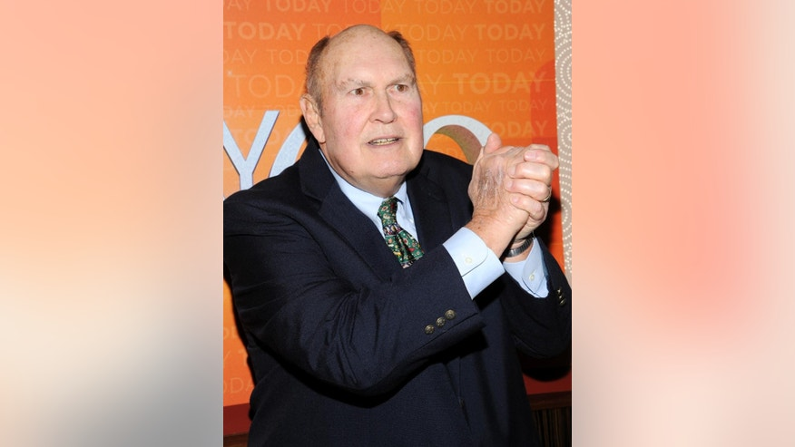 "FILE - This Jan. 12, 2012 file photo shows ""Today"" show personality Willard Scott a the show's 60th anniversary celebration in New York. NBC says 80-year-old Willard Scott has tied the knot with his longtime partner. The veteran ""Today"" show personality and Paris Keena were wed Tuesday in Fort Myers, Fla. They have been together for about 11 years, said ""Today"" host Matt Lauer in sharing the news on Wednesday morning's telecast. (AP Photo/Evan Agostini, File)"