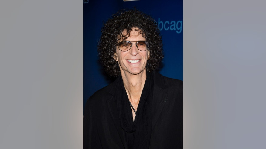 "April 4, 2014. Howard Stern arrives for an ""America's Got Talent"" taping at Madison Square Garden on Friday in New York."