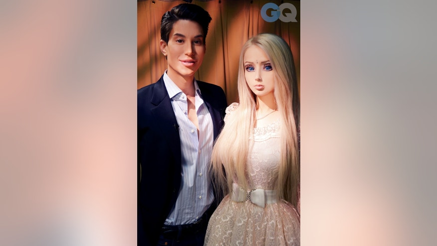Valeria Lukyanova with the 'Human Ken,' Justin Jedlica.