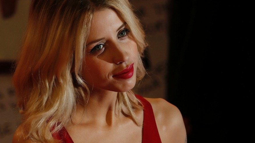 "Peaches Geldof, daughter of Bob Geldof, at the European premiere of ""The Twilight Saga: Breaking Dawn Part 2"" in London November 14, 2012."