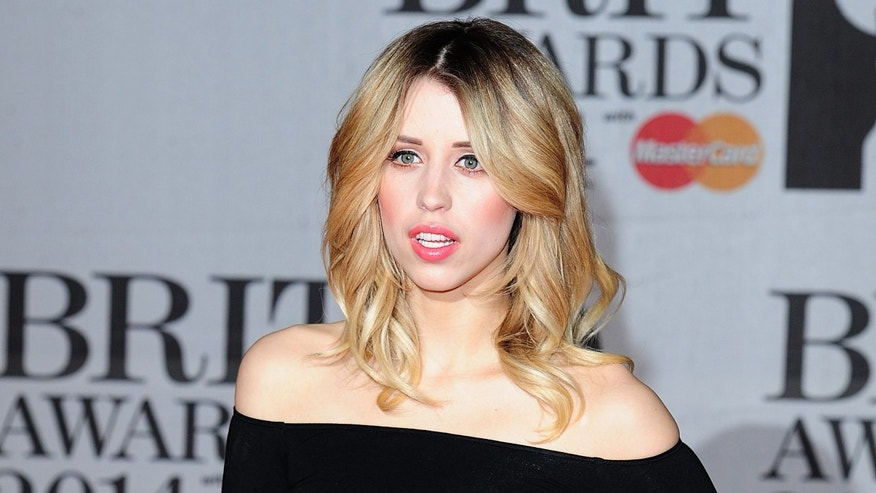 In this Feb. 19, 2014 file photo Peaches Geldof, daughter of Bob Geldof is seen at the Brit Awards 2014, in London.