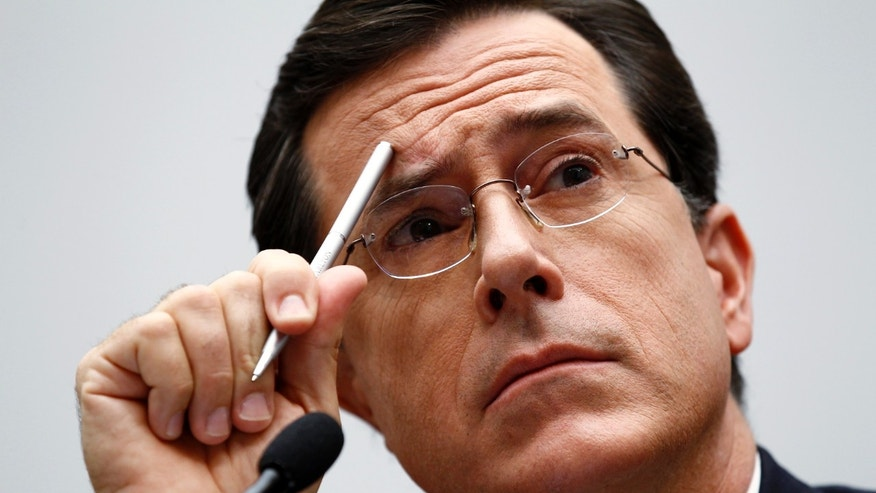 "September 24, 2010. Stephen Colbert testifies at the Immigration, Citizenship, Refugees, Border Security, and International Law Subcommittee hearing on ""Protecting America's Harvest"" on Capitol Hill in Washington."