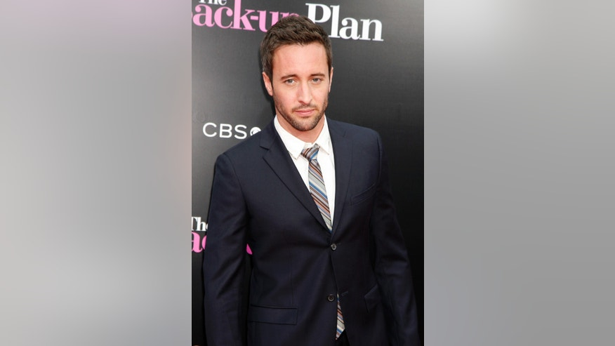 "April, 21, 2010. Alex O'Loughlin arrives for the premiere of the film  ""The Back-up Plan"" in Los Angeles, California."