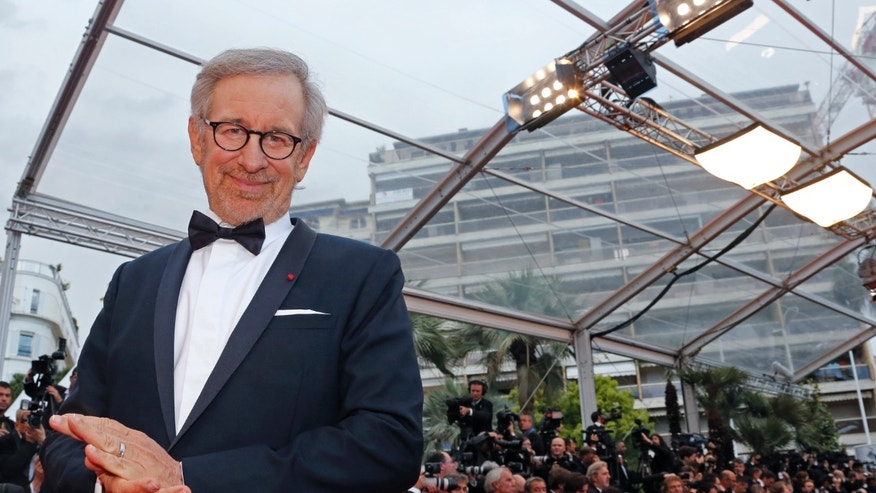"May 19, 2013. Director Steven Spielberg, Jury President of the 66th Cannes Film Festival, poses on the red carpet as he arrives for the screening of the film ""Inside Llewyn Davis"" in competition during the 66th Cannes Film Festival in Cannes."