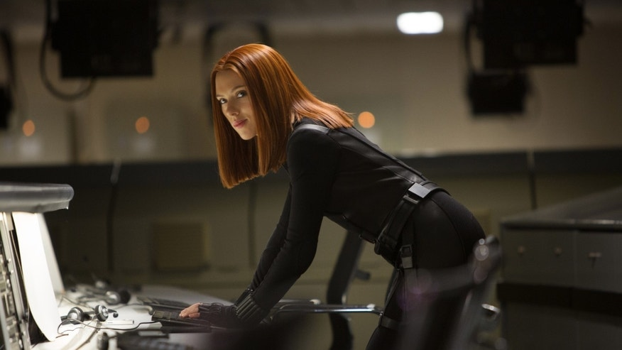 "Scarlett Johansson in a scene from the film, ""Captain America: The Winter Soldier."""
