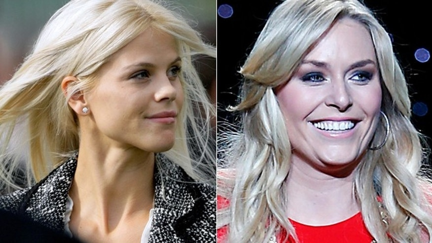 Elin Nordegren, left, and Lindsey Vonn are reportedly becoming friends.