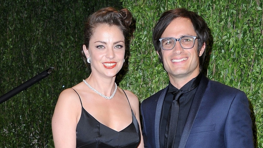Dolores Fonzi and Gael Garcia Bernal on February 24, 2013 in West Hollywood, California.