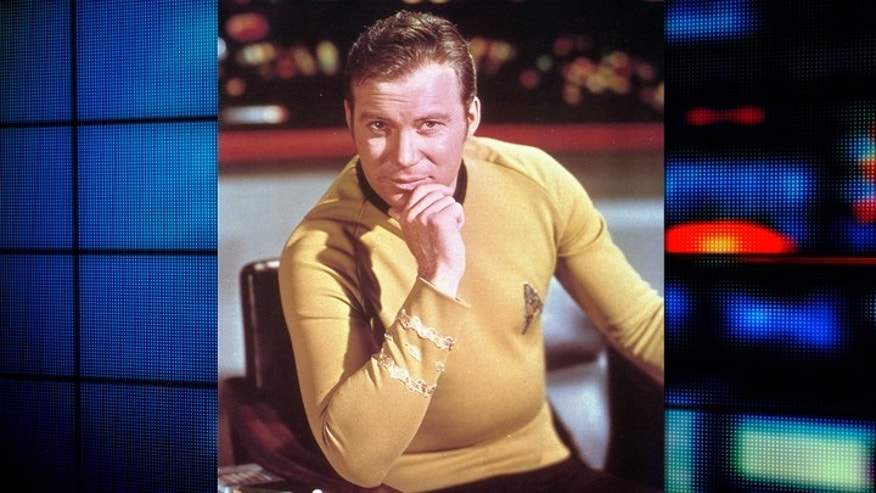William Shatner as Captain James T. Kirk on 'Star Trek'