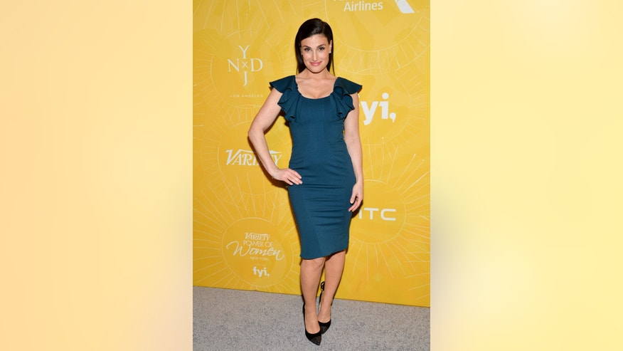 "April 25, 2014. Actress Idina Menzel attends Variety's ""Power of Women: New York"" luncheon at Cipriani Midtown in New York."