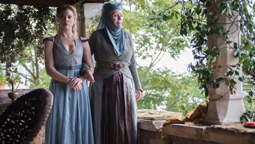 Diana Rigg (right) as Olenna Tyrell and Natalie Dormer as granddaughter Margaery on 'Game of Thrones' (Courtesy HBO)