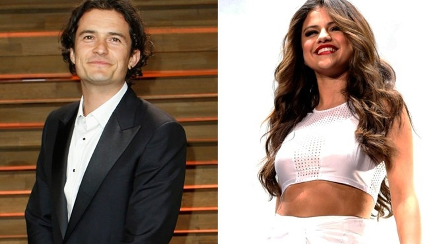 Orlando Bloom, left, and Selena Gomez are reportedly spending some time together.