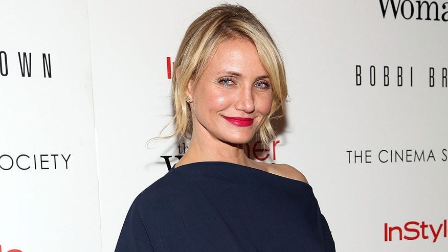 "NEW YORK, NY - APRIL 24:  Actress Cameron Diaz attends The Cinema Society & Bobbi Brown with InStyle screening of ""The Other Woman"" at The Paley Center for Media on April 24, 2014 in New York City.  (Photo by Monica Schipper/Getty Images)"