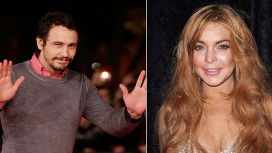 James Franco, left, said he rejected advances from starlet Lindsay Lohan.