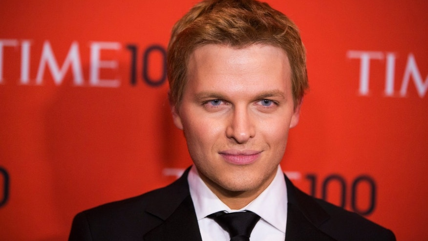 Television host Ronan Farrow arrives at the Time 100 gala celebrating the magazine's naming of the 100 most influential people in the world for the past year, in New York April 29, 2014. REUTERS/Lucas Jackson (UNITED STATES - Tags: ENTERTAINMENT) - RTR3N6BS